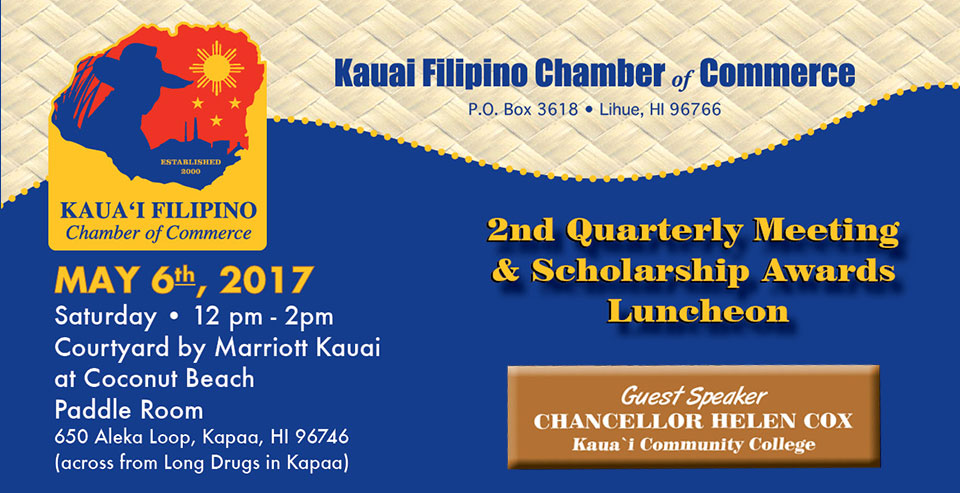 2nd Quarterly Meeting and Scholarship Awards Luncheon May 6, 2017