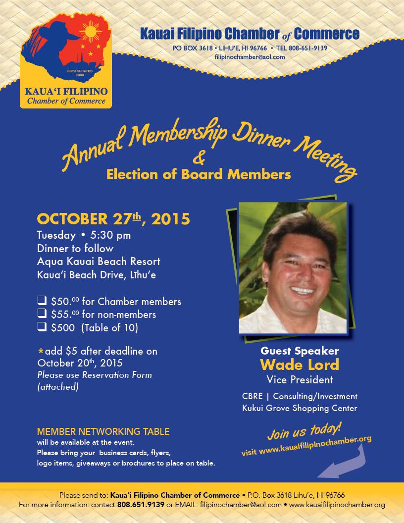 KIFB Annual Membership Dinner Meeting 2015