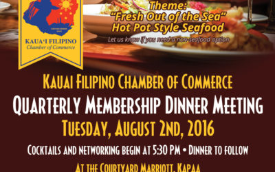 Quarterly Membership Dinner Meeting August 2nd, 2016