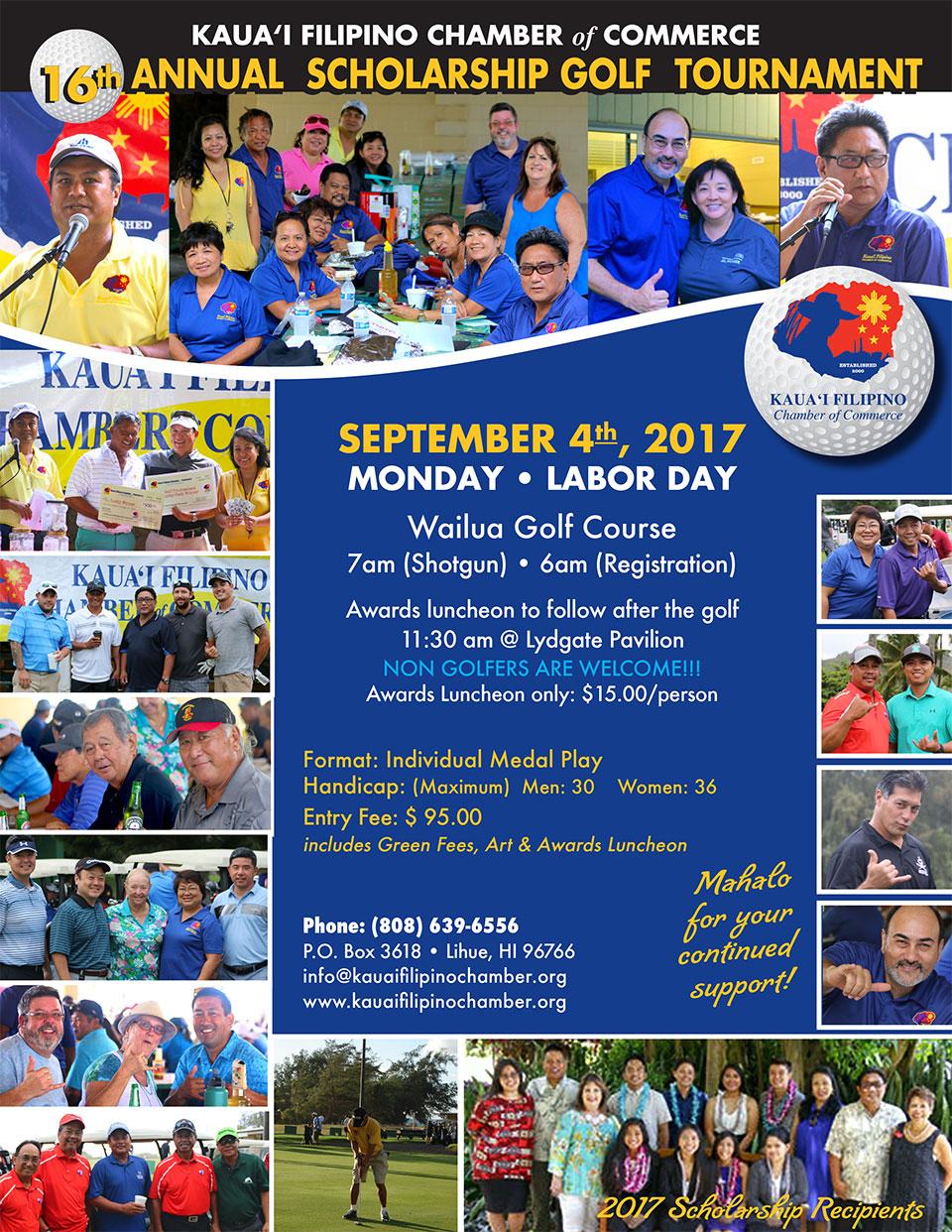 16th Annual Kauai Filipino Chamber of Commerce Scholarship Golf Tournament