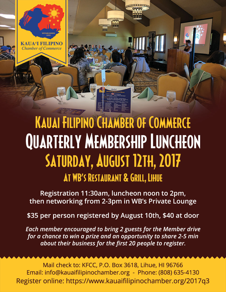 3rd Quarter 2017 Membership Luncheon