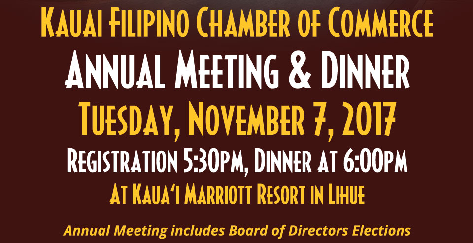 2017 Annual Meeting and Dinner November 7, 2017