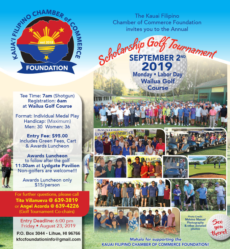 16th Annual Kauai Filipino Chamber of Commerce Scholarship Golf Tournament