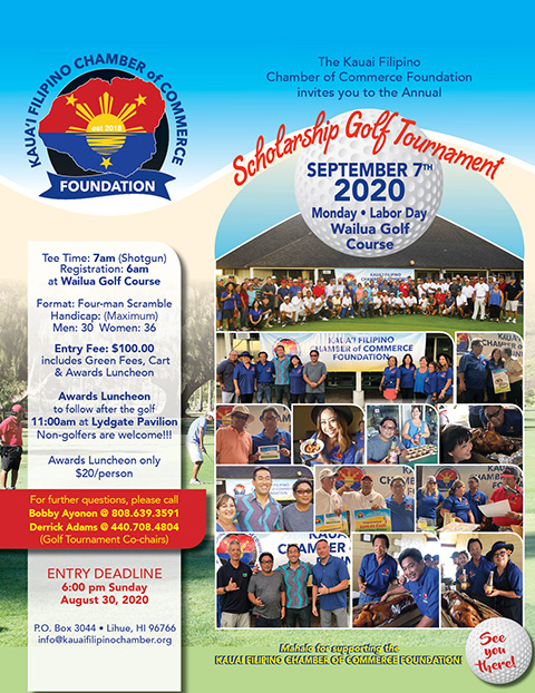 19th Annual Scholarship Golf Tournament, September 7, 2020